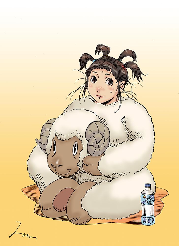 未年羊の着ぐるみ着る少女