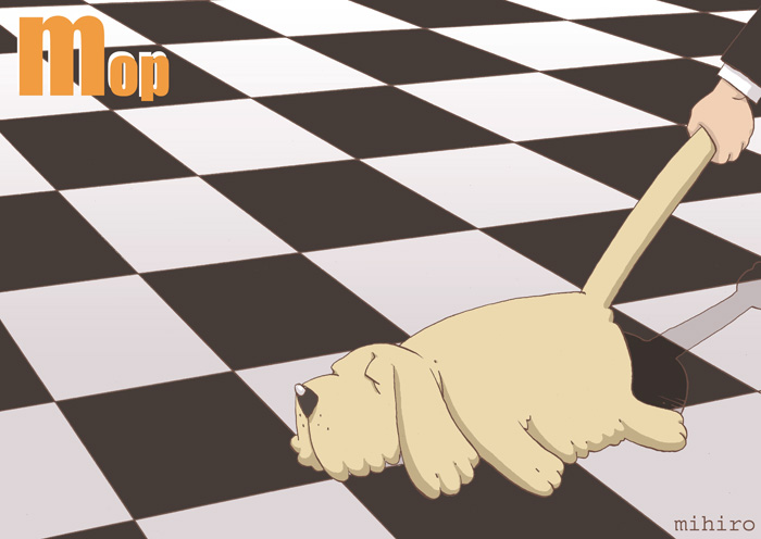 モップのようなモップ犬
