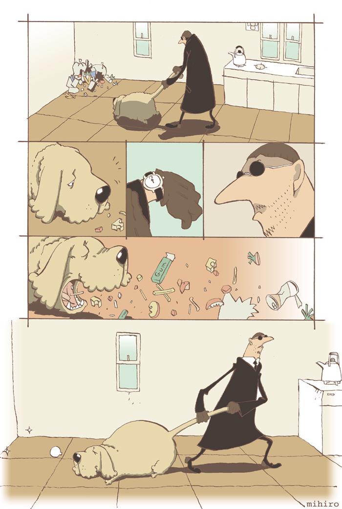 名コンビのモップ犬と掃除屋