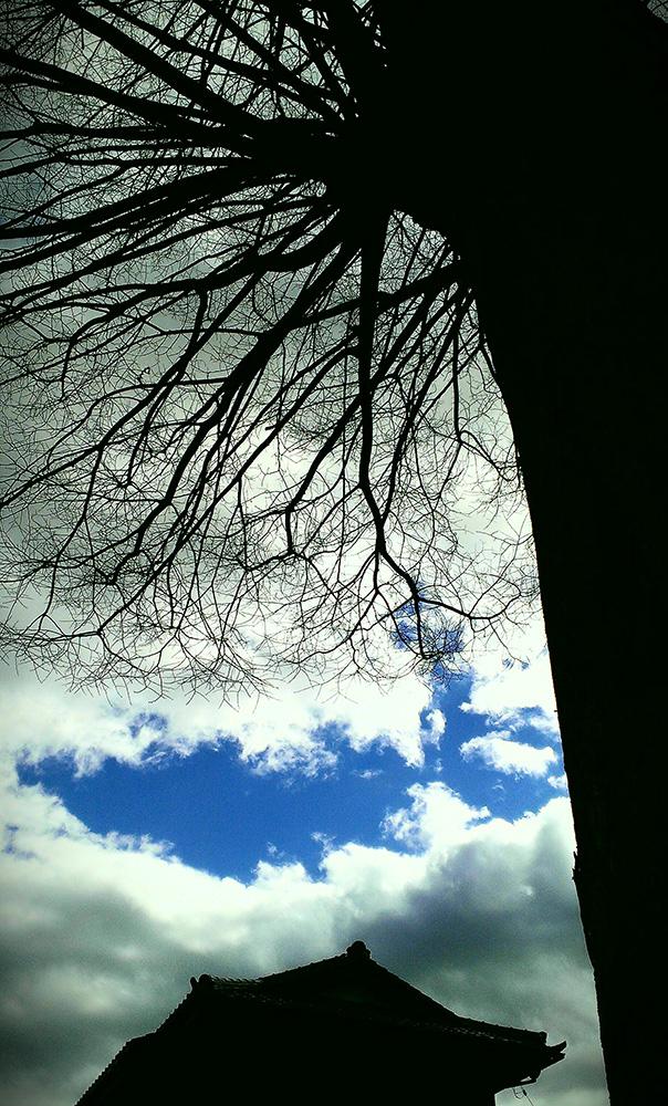 雲間から晴れ間