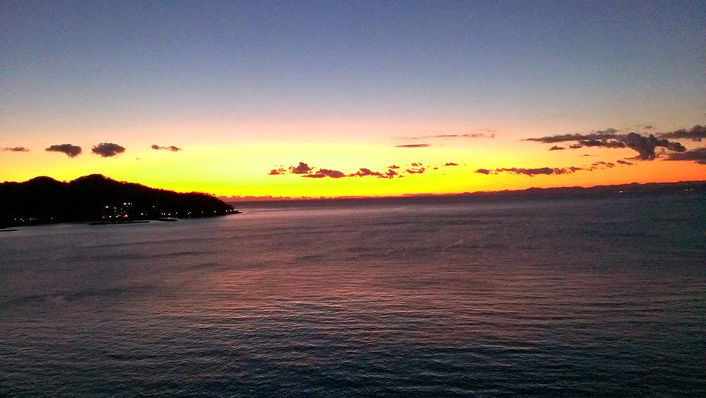 駿河湾の夕日