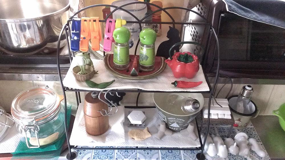 キッチン周り調味料棚