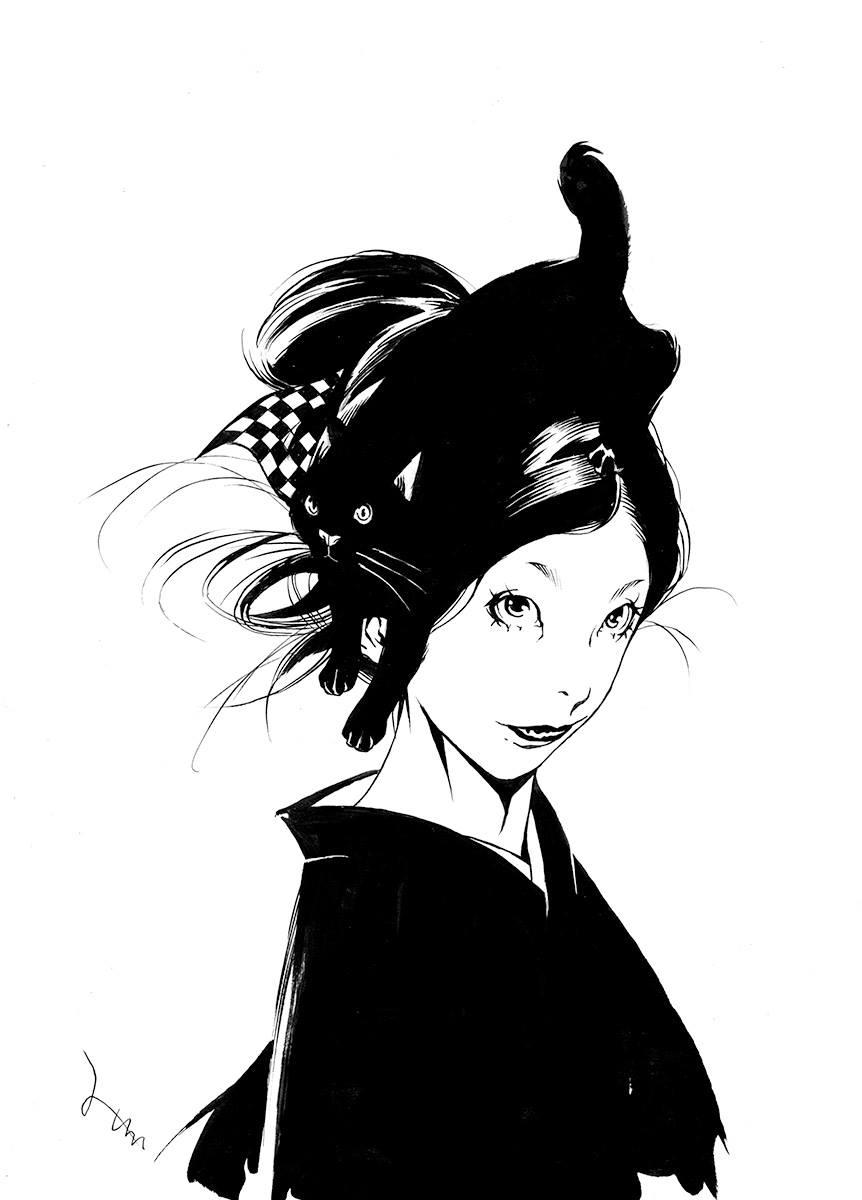 生ける髪型‥黒猫盛り
