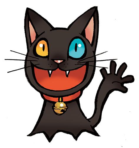 本当は福を招く黒猫