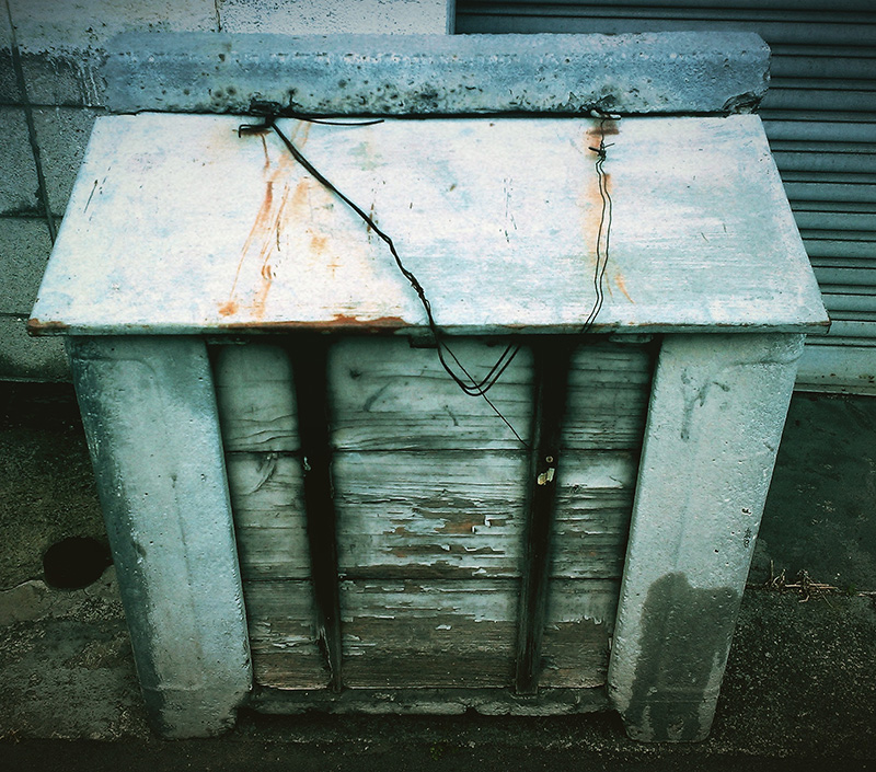昔、懐かしいゴミ箱発見!